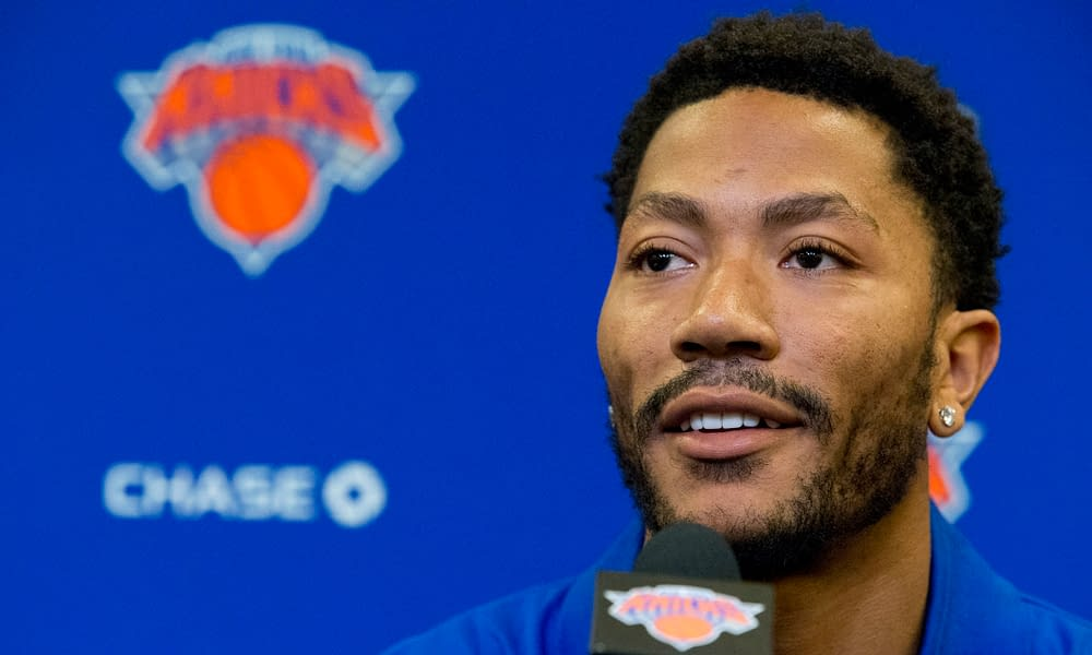 New York Knicks point guard Derrick Rose used Madison Square Garden for an epic engagement dinner with longtime girlfriend, Alaina Anderson