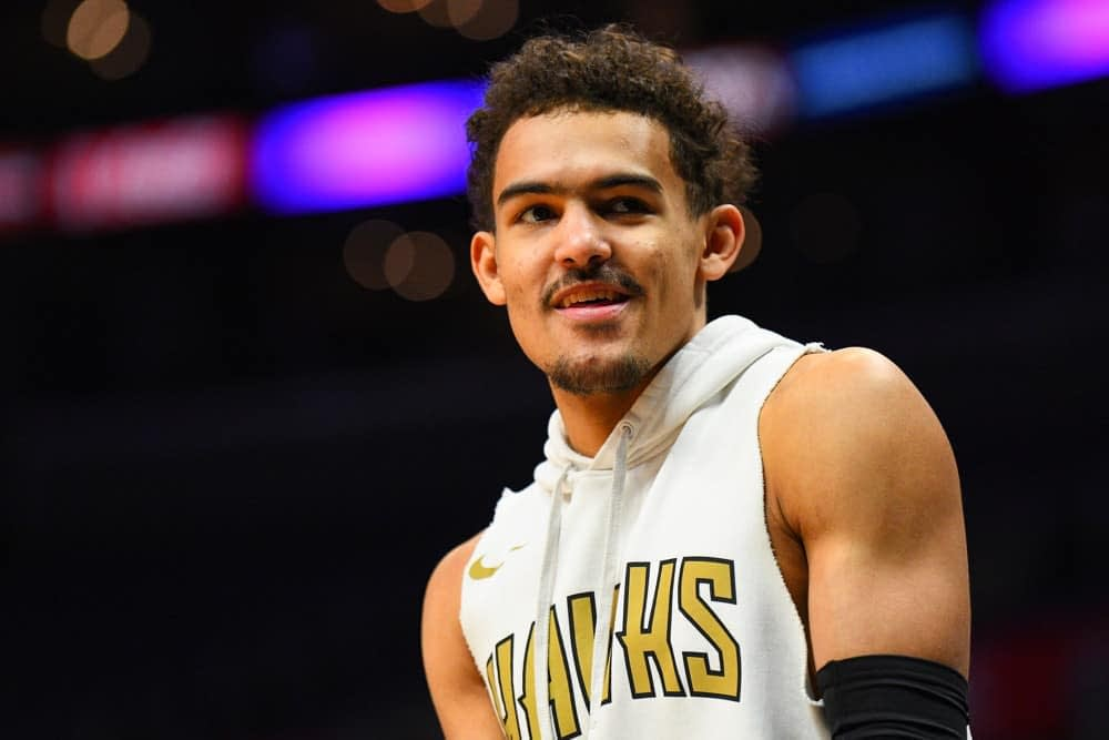 NBA DraftKings DFS daily fantasy basketball lineups NBA Playoff Game 4 cheat sheet. Awesemo's picks + projections for 6/29 | Trae Young.