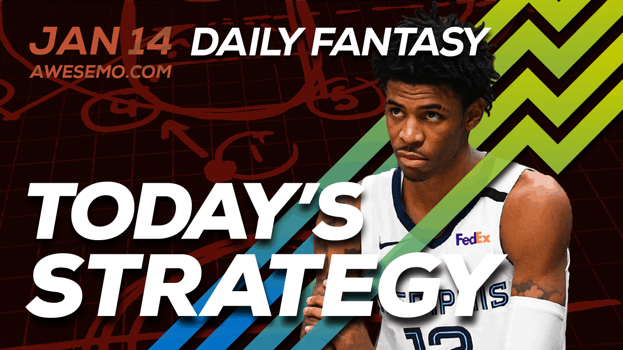 FREE Awesemo YouTube NBA DFS picks & content for daily fantasy lineups on DraftKings + FanDuel including Ja Morant and more!