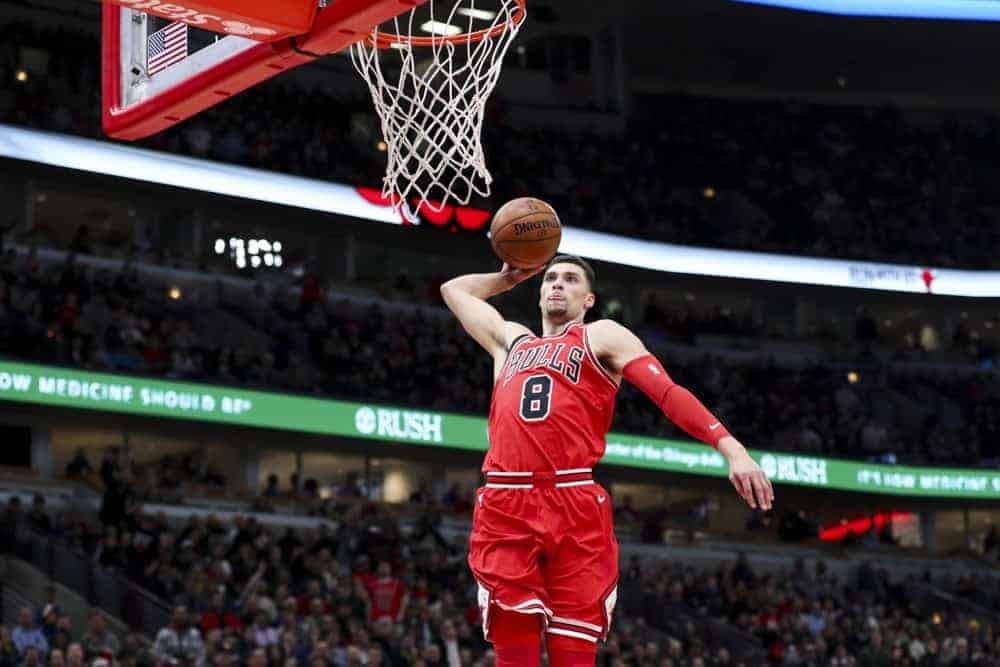 Damien is back with his top NBA DFS Picks for DraftKings and FanDuel on Sunday, February 23rd, including CJ McColllum and Zach LaVine.
