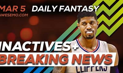 v\Almost three straight hours of NBA DFS Content starting a 5PM Eastern taking up to NBA lock for DraftKings, FanDuel & SuperDraft