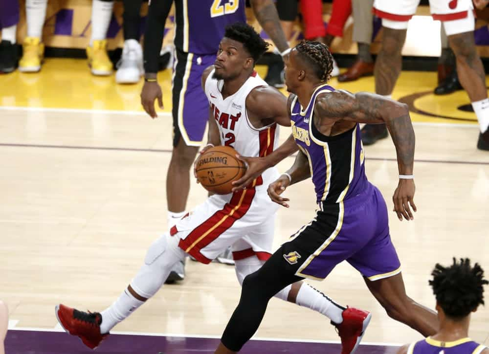 Our FREE NBA DFS picks cheatsheets gives out top plays for daily fantasy basketball lineups on Yahoo for Sunday 3/8/20 with Jimmy Butler