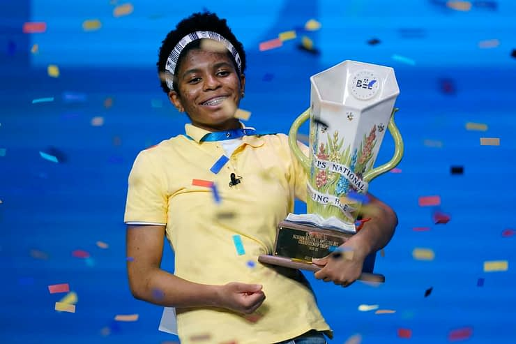 A video is surfacing of Scripps National Spelling Bee champion, Zaila Avant-garde, showing off ridiculous moves on a basketball court