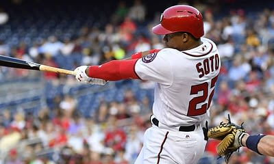 SuperDraft MLB DFS cheatsheet for 8/27/20, picks like Juan Soto based on projections and ownership from the world's No. 1 DFS player