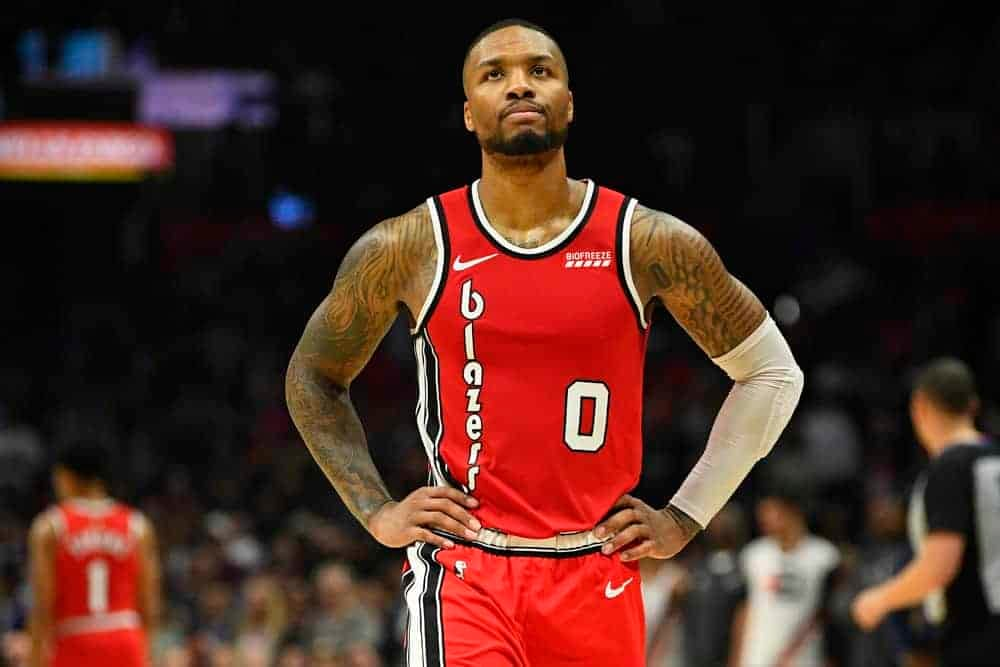 NBA Fantasy projections for DraftKings and FanDuel lineups on Wednesday March 3 based on Awesemo's expert boom/bust tool featuring Damian Lillard