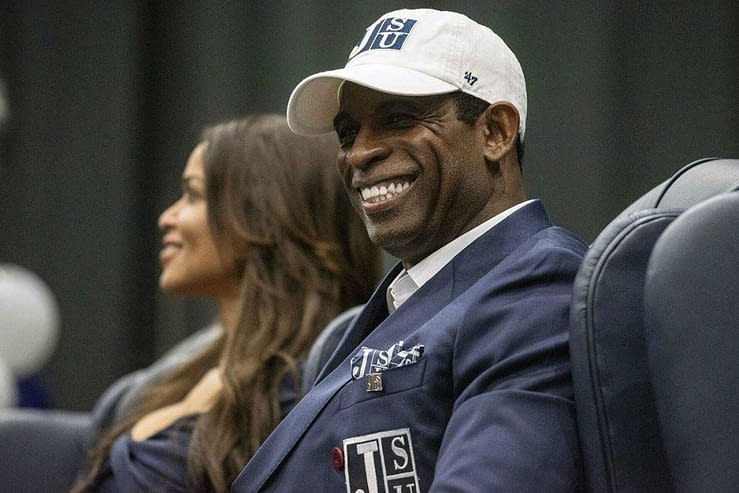 Jackson State head coach Deion Sanders spoke out against the report that he stormed out of SWAC Media Day after being called by his first name