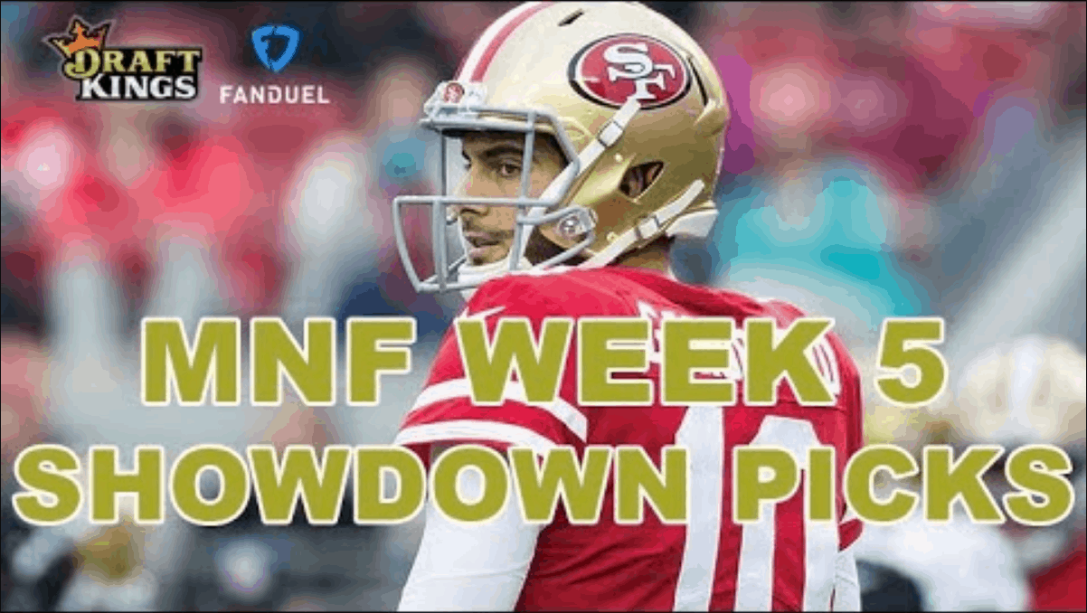 FREE: Chris Spags gives out his NFL DFS picks for Monday Night Footbal FanDuel and DraftKings Showdown Slate between the Browns and 49ers.