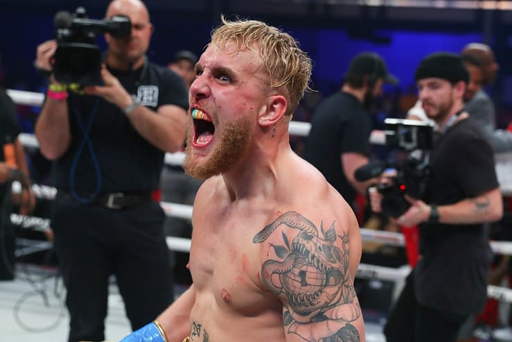 Youtuber turned boxer Jake Paul gives an update after announcing he was a 'retired boxer' shortly after beating Tyron Woodley on Sunday night