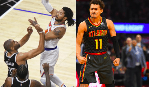 Knicks point guard Derrick Rose made sure that Hawks guard Trae Young didn't leave New York empty handed after electric playoff performance