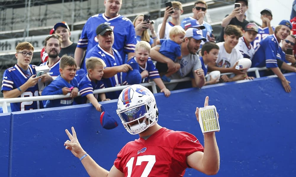 Jordan Poyer's wife, Rachel Bush, was in attendance at the Bills game on Sunday despite a new rule that requires vaccination proof prior to entry