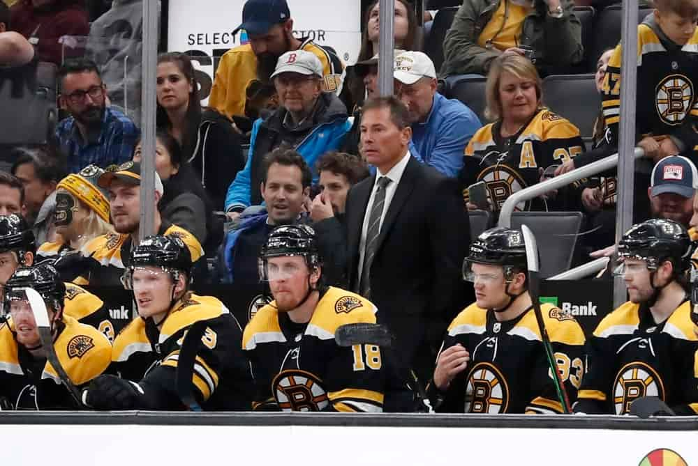 Boston Bruins head coach Bruce Cassidy was fined after making comments about Islanders coach Barry Trotz and the officiating during the series
