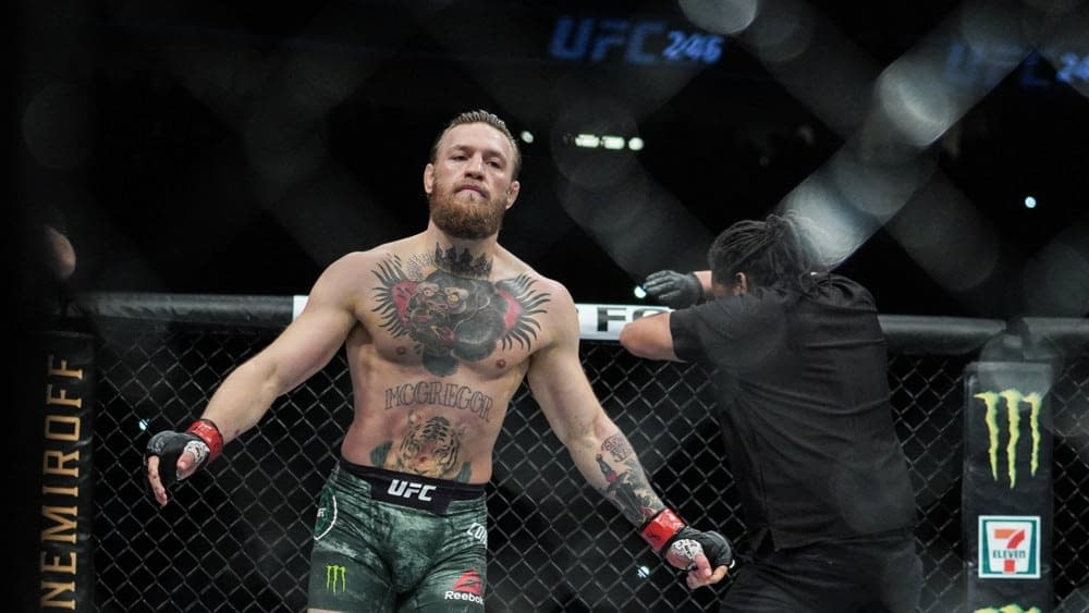 MMA DFS picks for DraftKings and FanDuel for McGregor vs. Poirier 3 with Awesemo's FREE expert projections   7/10.