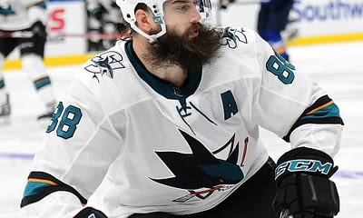 Awesemo's free DraftKings NHL DFS Picks cheat sheet for fantasy hockey lineups based on expert projections featuring Brent Burns 4/14/21