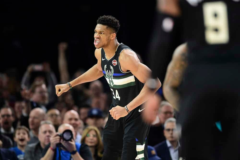 NBA DFS picks DraftKings FanDuel today tonight lineup optimizer picks optimal lineup starting lineup NBA injury report rankings projections ownership daily fantasy basketball free tips cheat sheets Giannis player props betting picks best bets moneyline parlay over/under predictions