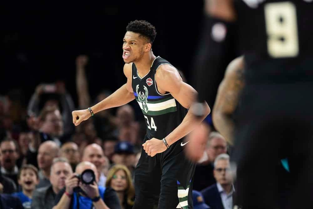 NBA DraftKings Lineup Picks DFS daily fantasy basketball cheat sheet tonight Sunday June 13 2021 Giannis Antetokounmpo expert projections predictions ownership rankings Nuggets Suns Nets Bucks