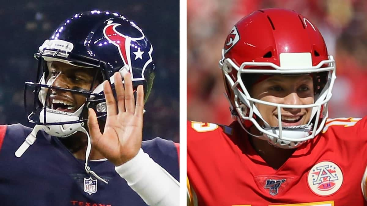 Thursday Night Football kicks off tonight on NBC with an AFC showdown: Texans at Chiefs. Aka the Trubisky Bowl. Mahomes versus Watson.