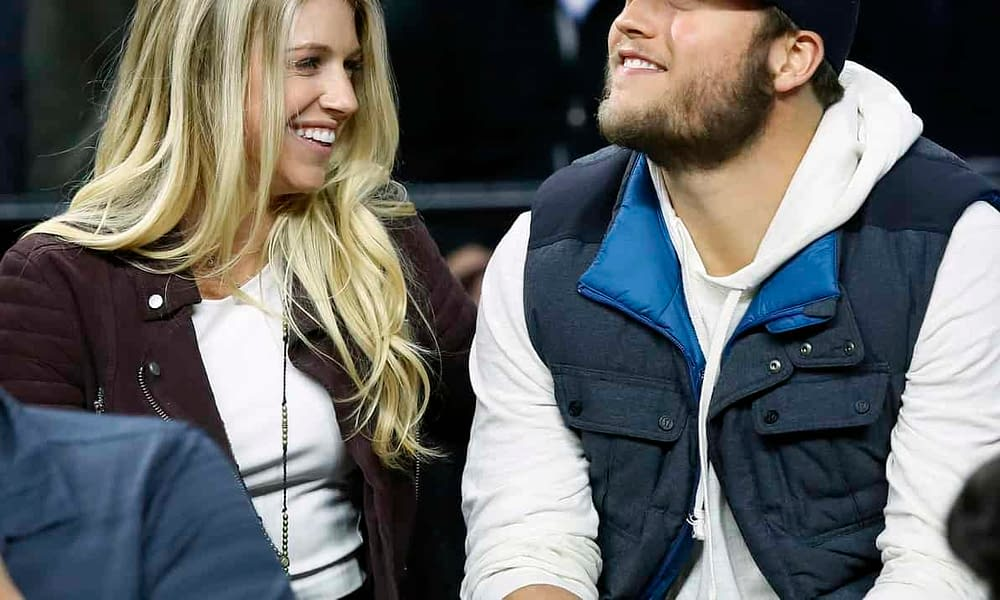 Matthew Stafford's wife, Kelly Stafford, hilariously trolled NBC for calling the wrong woman Matt's wife during the broadcast on Sunday night