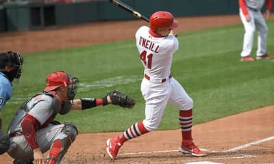 Awesemo's free expert MLB picks, Vegas odds and best player props bets today like Cardinals Moneyline (+143) vs. Reds and Alex Cobb OVER 4.5 Ks.