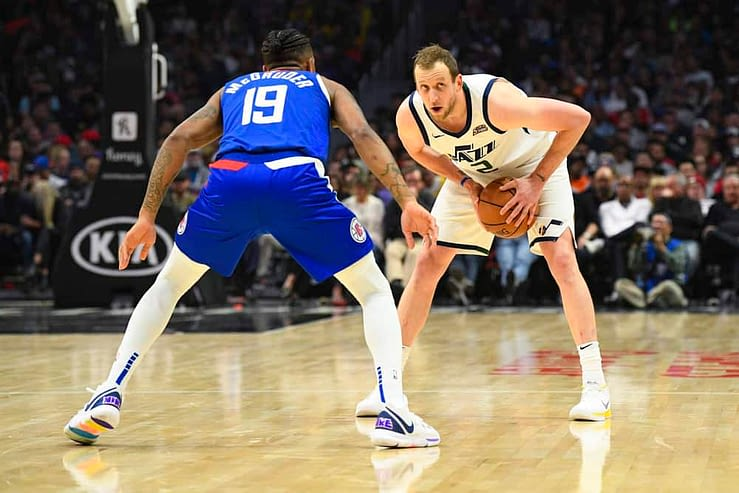 NBA DFS DraftKings daily fantasy basketball lineups cheat sheet 5/10/21. Awesemo's picks and projections for May 10 with Joe Ingles.