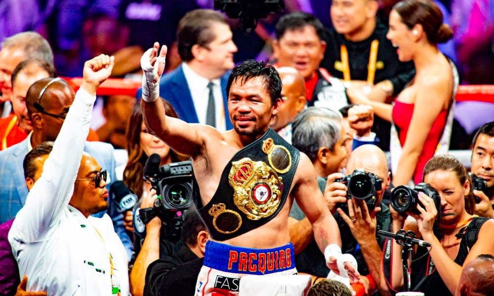 Manny Pacquiao's wife, Jinkee, posted a video to Instagram of her spoon-feeding him following his beating at the hands of Yordenis Ugas