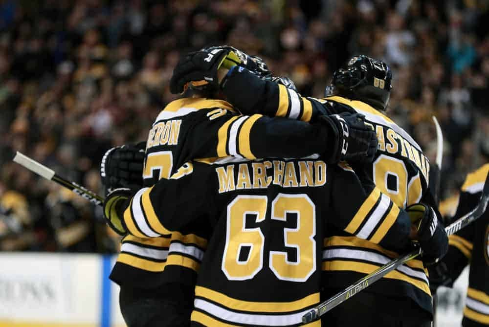 NHL DFS Picks DraftKings FanDuel Strategy Show with Awesemo experts Jake Hari featuring Brad Marchand