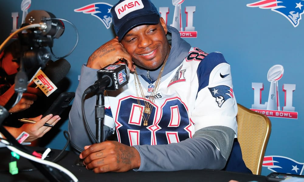 Former NFl tight end Martellus Bennett isn't satisfied at all with Urban Meyer's explanation of the viral video, saying he just wanted to see some 'old hoes'