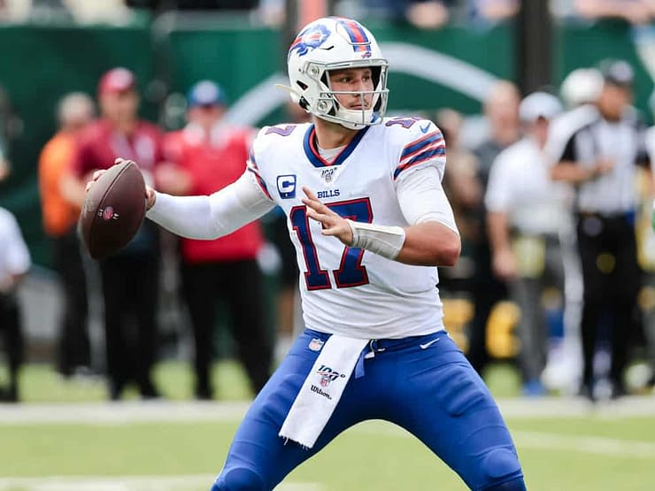 NFL DFS Picks for FanDuel daily fantasy football lineups AFC NFC COnference Championship Games based on expert projections featuring Josh ALlen