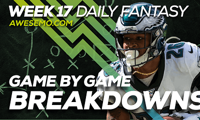 Ben Rasa and Sal Vetri sit down to discus Week 17 Daily Fantasy Lineups on DraftKings & FanDuel NFL DFS, Miles Sanders & More!
