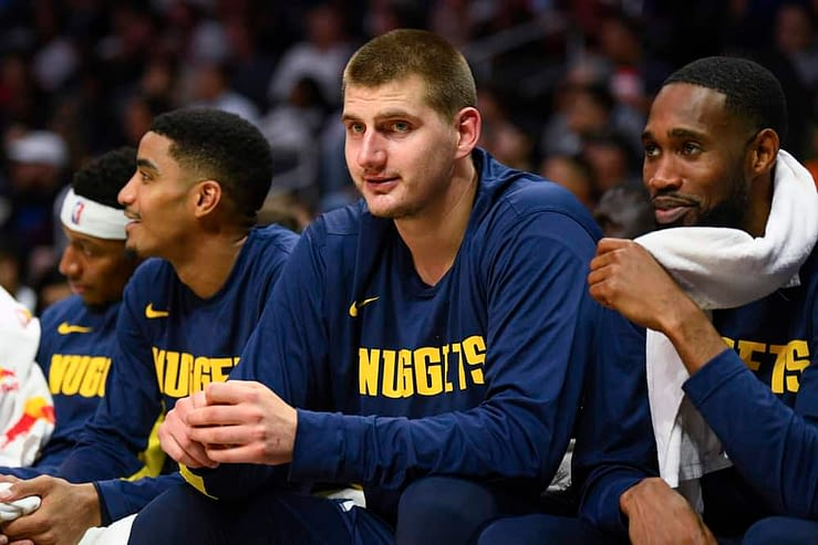 DraftKings NBA DFS Lineup Picks cheat sheet for daily fantasy basketball rosters tonight Monday April 26 with Nikola Jokic based on expert projections, predictions and ownership