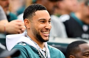 Dallas Cowboys receiver Noah Brown took issue with how Eagles offensive lineman Jason Kelce called out Ben Simmons to look cool for the fans