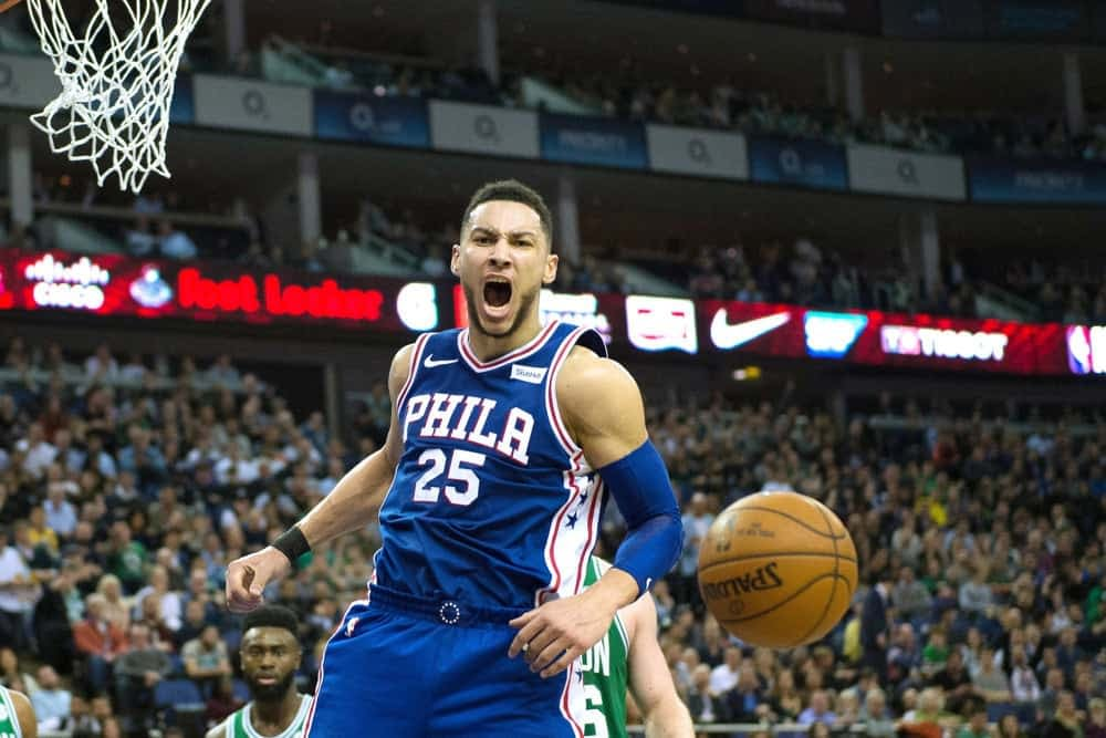 NBA Yahoo Picks daily fantasy cheat sheet with Ben Simmons