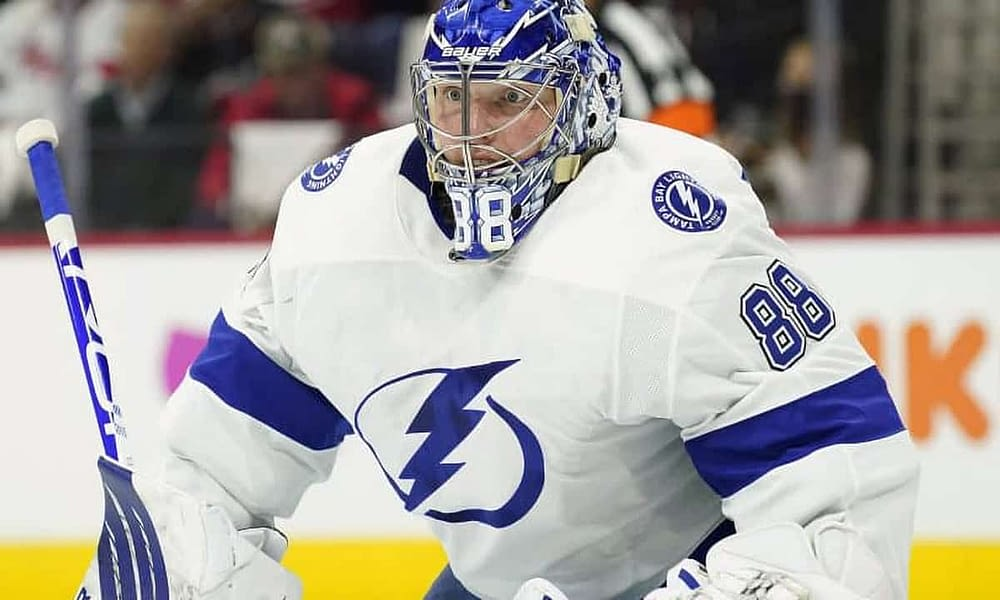 NHL DraftKings picks for Stanley Cup Game 5 daily fantasy hockey lineups. FREE NHL DFS cheat sheet + projections | Andrei Vasilevskiy 7/7.