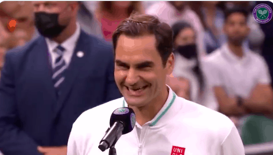 """Tennis legend Roger Federer had a hilarious reaction when a reporter used the saying """"absence makes the heart grow fonder"""" at Wimbledon"""